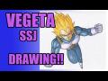 【ベジータ Drawing】絵本作家がスーパーサイヤ人ベジータを描いてみた!